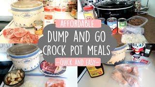 DUMP & GO CROCK POT RECIPES | QUICK & EASY CROCK POT MEALS
