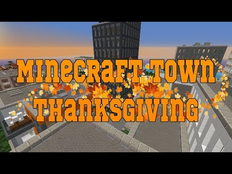 Minecraft Town ThanksGiving (EP2) He's Back And New Restaurants (MInecraft Roleplay)
