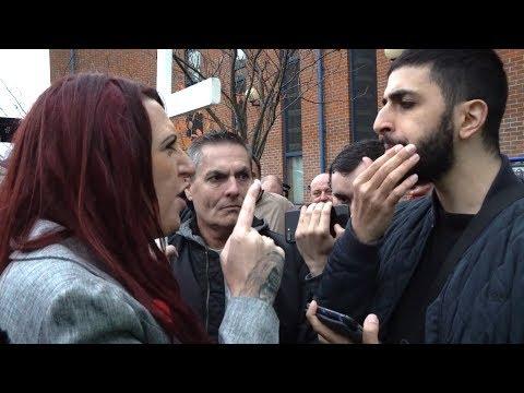 ALI DAWAH CONFRONTS BRITAIN FIRST - KICKS OFF!!