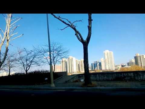 riding a cab in Seoul South Korea