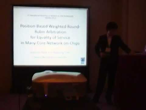 Position-Based Weighted Round-Robin Arbitration for Equality of Service in Many-Core NoC