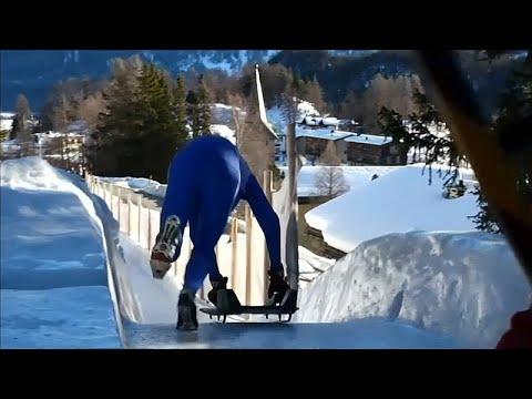 شاهد.. التزحلق من منحدر ارتفاعه 514 قدما في سويسرا  - 13:54-2019 / 2 / 18