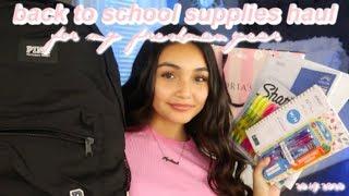 my freshman back to school supplies haul + mini school shopping vlog for 2019!