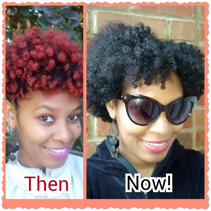 Fab Natural Hair From Red To Dark Brown Part 1 Youtube