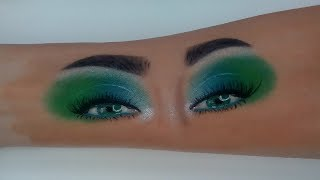 Beauty green makeup, hand draw