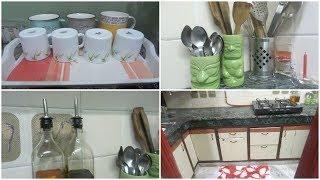 Small Kitchen organization Idea || Indian Kitchen Organization || Kitchen counter-top Organization
