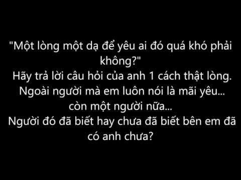 Giúp Anh Trả Lời Những Câu Hỏi - Vương Anh Tú (Lyrics)