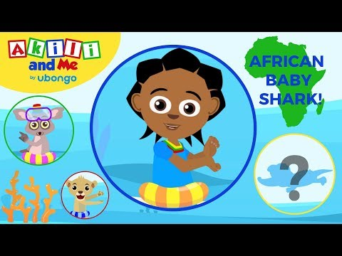 Baby Shark African Remix | Surprise Animal Dance | Nursery Rhymes & Baby Songs | Akili and Me