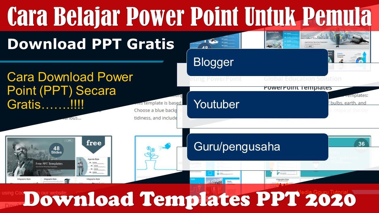 Cara Download Templates Ppt Powerpoint Gratis Untuk Desain Youtube