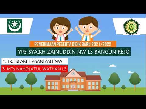 Download PPDB PONPES SYAIKH ZAINUDDIN NW L3 TGR S 2021/2022