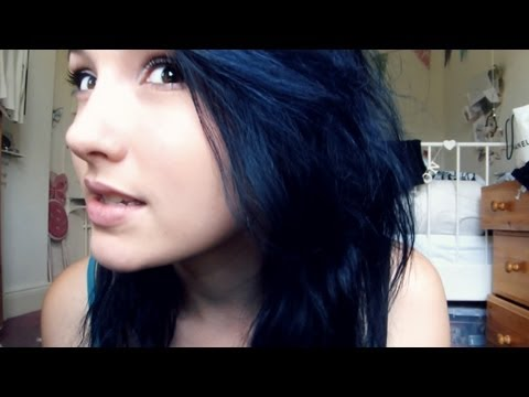 i had to dye my hair midnight blue youtube