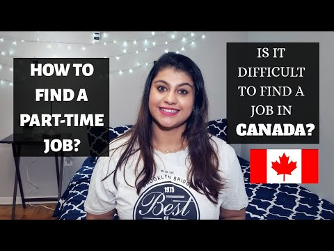 How To Find A Part-Time Job In Canada? Part-Time Job Scenario || thatsosnneha