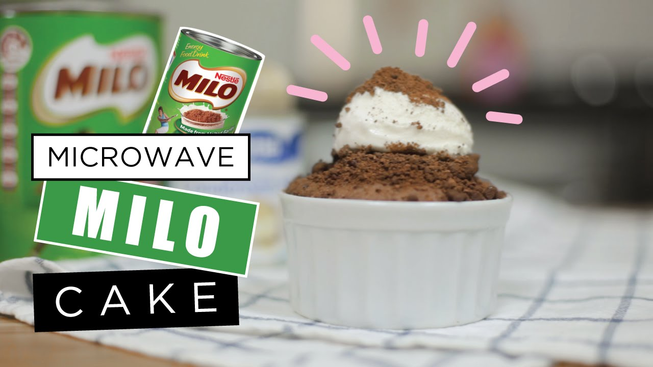 Image result for 3 minutes milo cake in microwave