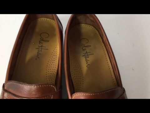Cole Haan Men Douglas Penney Loafer Slip On 01462 Tan Saddle Leather Shoe 9.5M