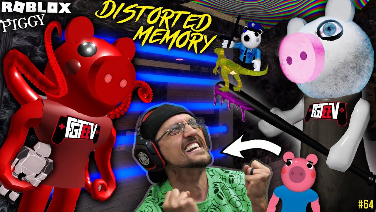 Roblox Piggy Distorted Memory George S Robot Dino Escape Fgteev