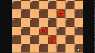 same double corner 3 vs 2 ending in checkers(14-10+α)
