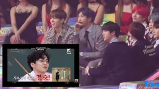 [MMA 2018] BTS Reaction To Netizen Choice Award VCR Ft. EXO, WANNAONE, BTOB