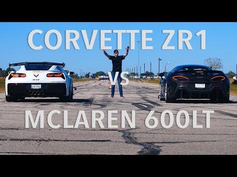 Corvette ZR vs McLaren LT Drag Race