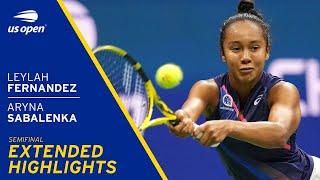 Leylah Fernandez vs Aryna Sabalenka Extended highlights