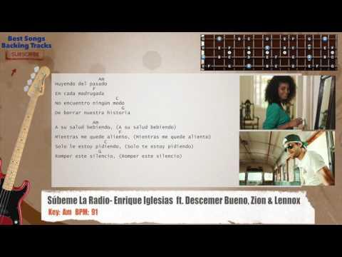 Súbeme La Radio - Enrique Iglesias  ft. Descemer Bueno, Zion & Lennox Bass Backing Track