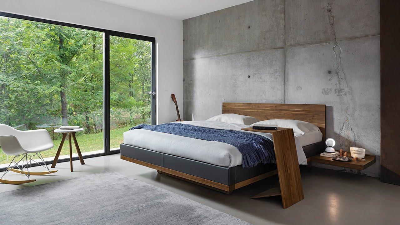 TEAM 7 riletto bed, relief wardrobe - YouTube