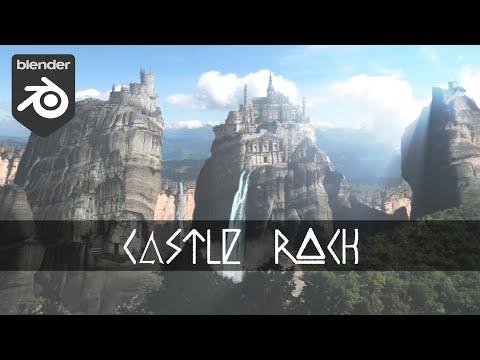 Blender Tutorial: Castle Rock [Digital Matte Painting] (3D View) thumbnail