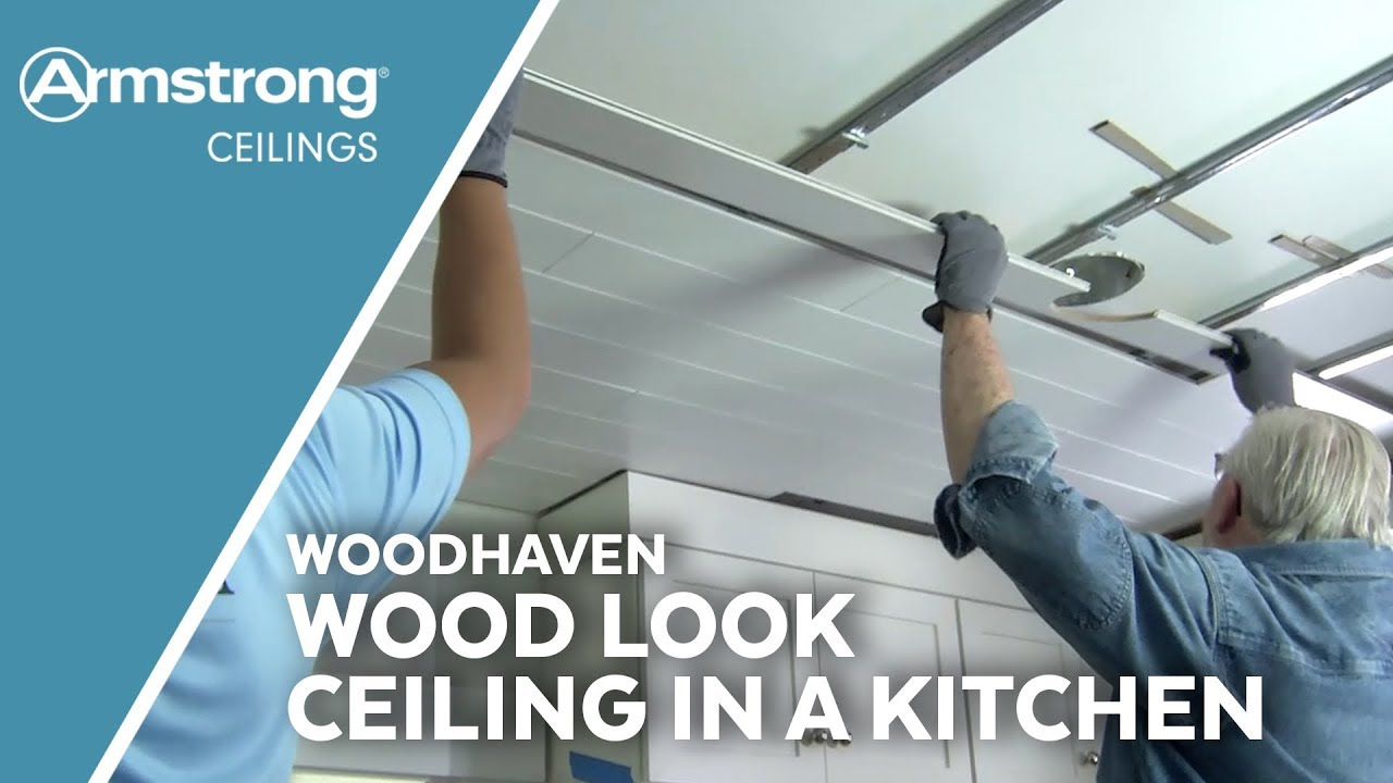 Wood Look Ceiling In A Kitchen