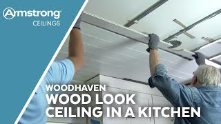 Ron Hazelton Installs a WoodHaven Wood Look Ceiling in a Kitchen