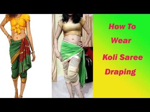 Drape a saree like Madhuri Dixit in Sailaab, Koli style