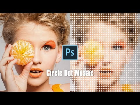 Photoshop Photo Effects Tutorials of Circle Dot Mosaic thumbnail