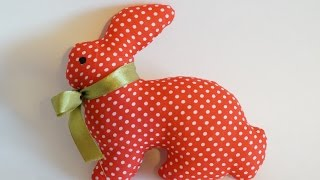 Make A Pretty Fabric Toy Rabbit - Diy Crafts - Guidecentral