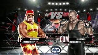 WWE 2K Mobile - Hulk Hogan vs The Undertaker - Steel Cage Match Gameplay [ HD ]