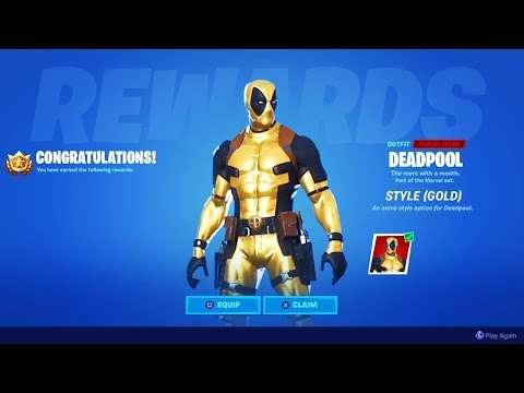 How To Get GOLD DEADPOOL In Fortnite! (EASY)
