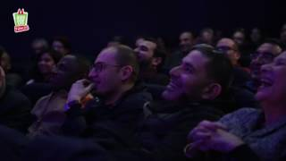 Yassine Belattar sur la scène du pré festival de Juste Pour Rire Tunisie 25/01/2017