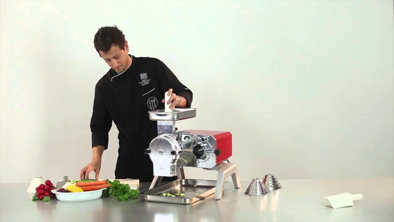 R pe et tranche l gumes pour multifonctions de cuisine pro toollio youtube - Rape electrique pour legumes ...