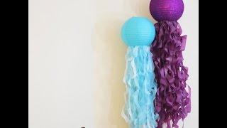 How to make Jellyfish Paper Lantern Tutorial