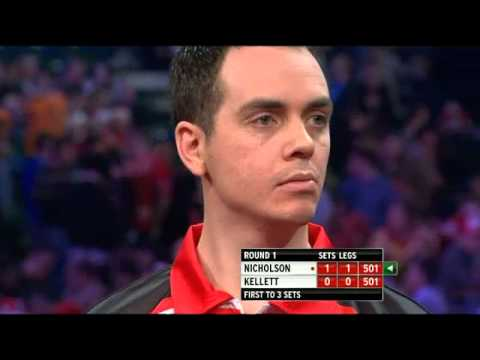 Paul Nicholson vs Stuart Kellet - PDC World Darts Championships 2014 First Round