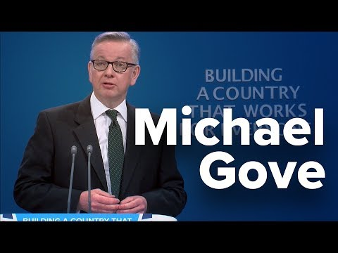 Michael Gove: Speech to Conservative Party Conference 2017