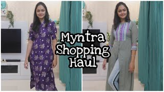 Try On Kurti Haul From MYNTRA | UP TO 60% off | FESTIVALS SPECIAL