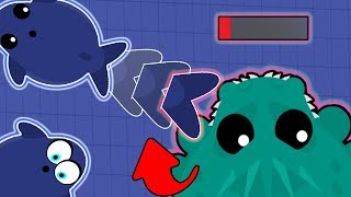 TOP 5 EPIC KILLS IN MOPE.IO! BLUE WHALE TROLLING ALL CRABS, T-REX'S, YETI'S AND DRAGONS! (Mope.io)