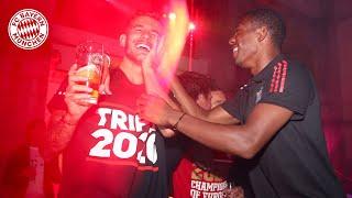So feiern die Bayern das Triple #MiaSanChampions