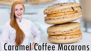 Coffee Macarons With Caramel Filling