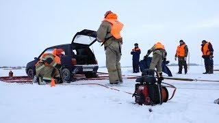 ДТП с пострадавшими на ледовой переправе: МЧС Татарстана проводит учения