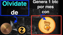 Olvida Ethereum, Zcash y Monero!  1 BTC al mes  HONEY coin