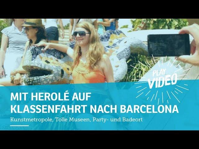 Mehr Infos unter: https://www.herole.de/klassenfahrten-barcelona Eure nächste Klassenfahrt sollte nach Barcelona gehen. Warum? Schaut es euch am besten selbst an!  _______________________________________________________________________________________  Ihr findet uns auch auf  ► unserer Website:  https://www.herole.de ► unserem Blog:  https://www.herole.de/blog/ ► Facebook:  https://www.facebook.com/HeroleReisen ► Instagram:  https://www.instagram.com/herolereisen ► Google+: https://plus.google.com/+HeroleDe/ ► Twitter: https://twitter.com/herole_reisen  _______________________________________________________________________________________  ► Wir sind ein Reiseveranstalter für Klassenfahrten, Abifahrten und Studienreisen. Unser Team besteht aus jungen und sehr engagierten Mitarbeitern der Tourismusbranche  ► Unser Anliegen ist es, Ihnen einfach schöne Klassenfahrten zu einem erschwinglichen Preis anzubieten. Wir wissen, wie wichtig Klassenfahrten für den Klassenzusammenhalt sowie für die Förderung des Allgemeinwissens sind. Wir sind daher bestrebt, Ihnen Reisen mit spezifischen Zusatzprogrammen anzubieten, die auf Ihren persönlichen pädagogischen Anspruch zugeschnitten sind.  Impressum:  https://www.herole.de/impressum  Kamera: Erik Schimschar/ Schnitt: Andrej Bavtschenkov