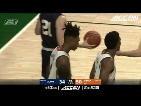 Navy vs Miami (FL) College Basketball Condensed Game 2017