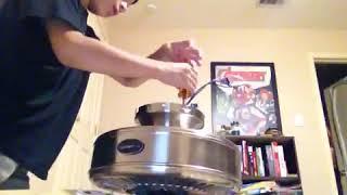 How to make a down rod fan into a flush mount fan