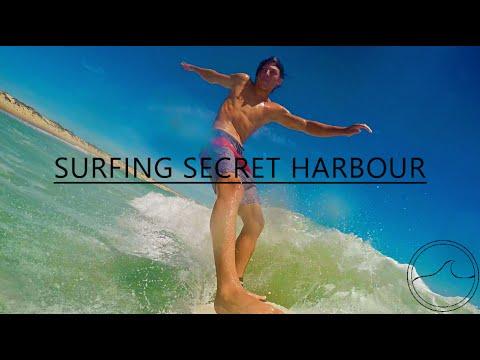 Surfing Secret Harbour WA Board Mount (GoPro Hero 4)