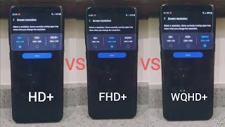 HD vs FHD vs WQHD Screen Smartphone Comparison, Battery, Temp, Benchmark Score  - Antutu