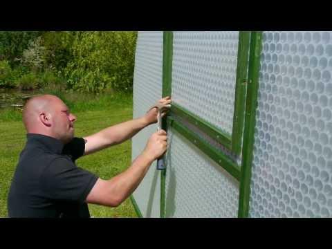 Building A Keder Greenhouse Kit.        Www.kedergreenhouse.co.uk